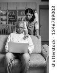 senior indian asian couple... | Shutterstock . vector #1346789003