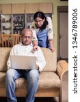 senior indian asian couple... | Shutterstock . vector #1346789006