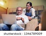 senior indian asian couple... | Shutterstock . vector #1346789009