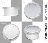 vector white round plastic... | Shutterstock .eps vector #1346796503