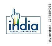 indian general election 2019...   Shutterstock .eps vector #1346804093