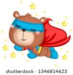 a vector of a bear in a... | Shutterstock .eps vector #1346814623