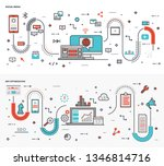 here is a collection of graphic ... | Shutterstock .eps vector #1346814716