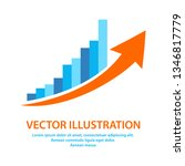growing businessgraph icon in... | Shutterstock .eps vector #1346817779