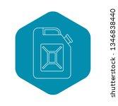 petrol tank icon. outline... | Shutterstock .eps vector #1346838440