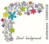 Floral Postcard. Bouquet Of...