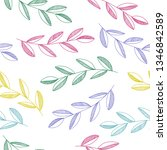 hand drawn seamless vector...   Shutterstock .eps vector #1346842589