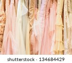 luxury dresses background | Shutterstock . vector #134684429