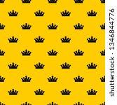 royal crown pattern seamless... | Shutterstock .eps vector #1346844776