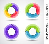 business project with circle... | Shutterstock . vector #134686040