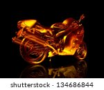 Motorcycle Fire. 3d Model...