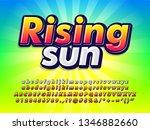"""rising sun"" bright colorful...   Shutterstock .eps vector #1346882660"