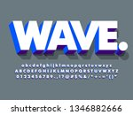 clean 3d white and blue bold... | Shutterstock .eps vector #1346882666
