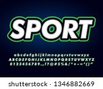 sport logotype with bold italic ...   Shutterstock .eps vector #1346882669