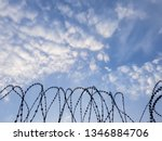 Razor Wire Coils On A Security...