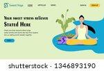 sweet yoga  landing page...   Shutterstock .eps vector #1346893190