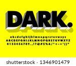 dark mono chrome font effect ... | Shutterstock .eps vector #1346901479