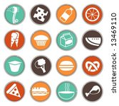 fresh food icons set 4 | Shutterstock .eps vector #13469110