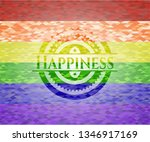 happiness on mosaic background... | Shutterstock .eps vector #1346917169