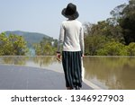 traveling asian woman at the... | Shutterstock . vector #1346927903
