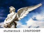 Guardian Angel White Marble...