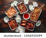 Chinese Takeaway Food. Crispy...