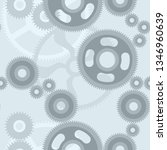 seamless pattern with gears ... | Shutterstock .eps vector #1346960639