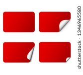 set of red rectangle adhesive...   Shutterstock .eps vector #1346965580