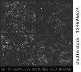 set of vector seamless textures.... | Shutterstock .eps vector #134696624