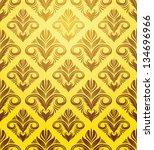 gold yellow ornament pattern | Shutterstock .eps vector #134696966