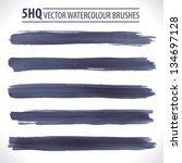 set of watercolor brushes.... | Shutterstock .eps vector #134697128