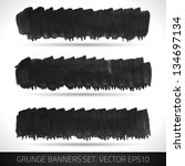 set of grunge banners.... | Shutterstock .eps vector #134697134