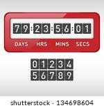 mechanical countdown timer.... | Shutterstock .eps vector #134698604
