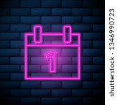 lilac pink neon sign on brick...
