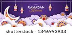 ramadan kareem horizontal... | Shutterstock .eps vector #1346993933