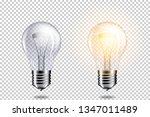 set of realistic transparent... | Shutterstock .eps vector #1347011489