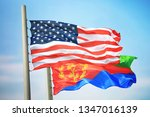 flags of the usa and eritrea... | Shutterstock . vector #1347016139