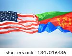 flags of the usa and eritrea... | Shutterstock . vector #1347016436
