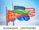 flags of eritrea and the usa... | Shutterstock . vector #1347016586