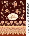 ethnic pattern in kalamkari... | Shutterstock .eps vector #1347023246