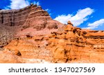 Sandstone Mountains In Red Roc...