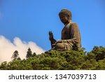 photograph of tian tan buddha ... | Shutterstock . vector #1347039713