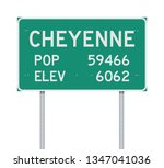 cheyenne population and... | Shutterstock .eps vector #1347041036