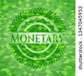 monetary green emblem. mosaic... | Shutterstock .eps vector #1347045953