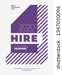 hiring poster  we are hiring... | Shutterstock .eps vector #1347050096