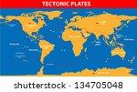 plate tectonics.  earth's...   Shutterstock .eps vector #134705048