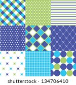 seamless patterns with fabric... | Shutterstock .eps vector #134706410