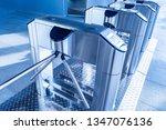 turnstiles. checkpoint.... | Shutterstock . vector #1347076136