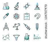 research and science harmony... | Shutterstock .eps vector #134707970