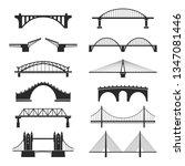bridge urban construction set ...   Shutterstock .eps vector #1347081446
